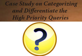 How to categorize and differentiate the high priority queries from the general information questions?