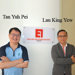 Tan Yuh Pei, Founder and Director of Operation and Lau King Yew, Founder and Director of Business & Consulting,, ONE ERP SOLUTIONS