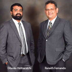 Dilanke Hettiaratchi, Co-Founder & Director and Ransith Fernando,Co-Founder & MD, Forestpin