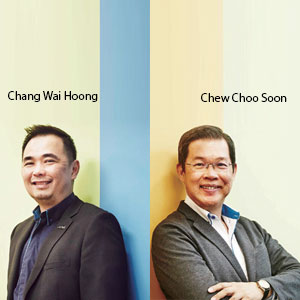 Chang Wai Hoong, Executive Director and Chew Choo Soon,Managaing Director, MyKRIS
