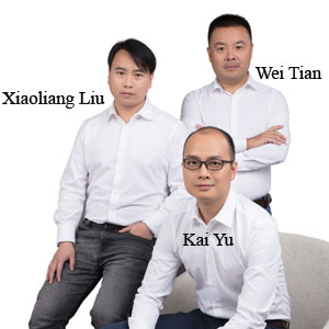 Xiaoliang Liu, CEO, Wei Tian, CTO & COO, Kai Yu, VP, Global Sales & Service,, AXESDN Technology