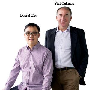 Philip Oakman and Daniel Zhu,CEO and CTO, EZswitch