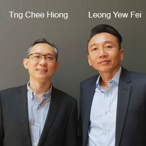 Tng Chee Hiong,Co-Founder and Leong Yew, Fei Co-Founder, CrimsonWorks