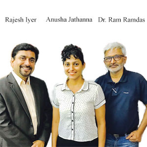 Rajesh Iyer, Chief Business Officer, Anusha Jathanna, Head of Platform & Products, Dr. Ram Ramdas, Chief Evangelist, Herald Logic