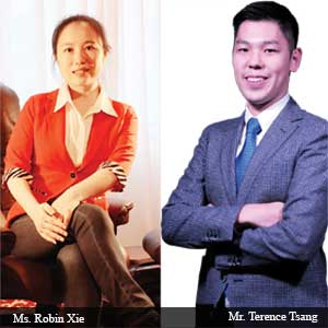 Ms. Robin, Xie CEO, Mr. Terence, Tsang COO, TideiSun Group