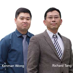 Kenman Wong,Director of Technologies and Richard Tang, General Manager, iASPEC Technologies and Services