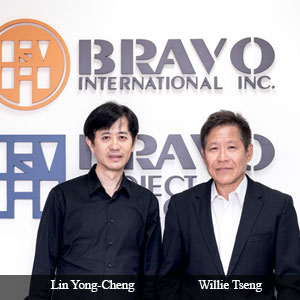 Willie Tseng, Co-Founder and Lin Yong-Cheng, Co-Founder, Bravo International