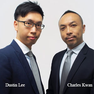 Dustin Lee,Head Of Business Analytics Solution and Charles Kwan, Sales Director, SAGE Technologies