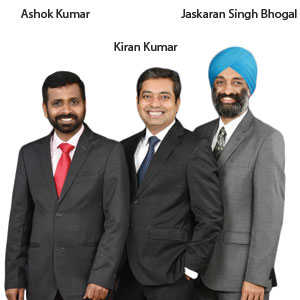 Ashok Kumar, Kiran Kumar, Jaskaran Singh Bhogal,Co-Founders & Executive Directors, Profinch Solutions