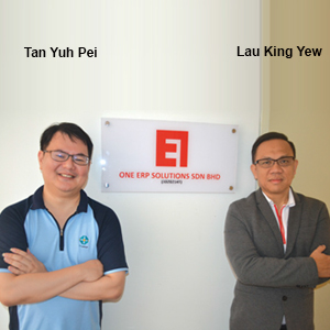 Tan Yuh Pei, Founder & Director of Operation and Lau King, Yew Founder, , ONE ERP SOLUTIONS