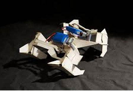 Origami-inspired Robots can Lift Heavy Weight